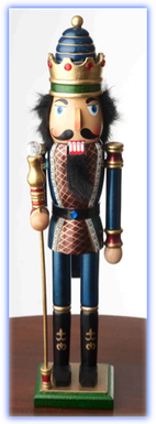 Red and Blue Nutcracker
