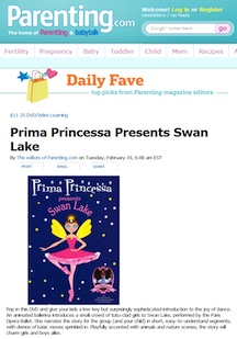 Parentin Magazine Review of Prima Princessa