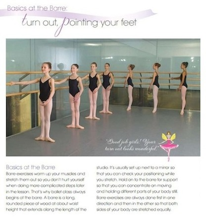 ballet book spread
